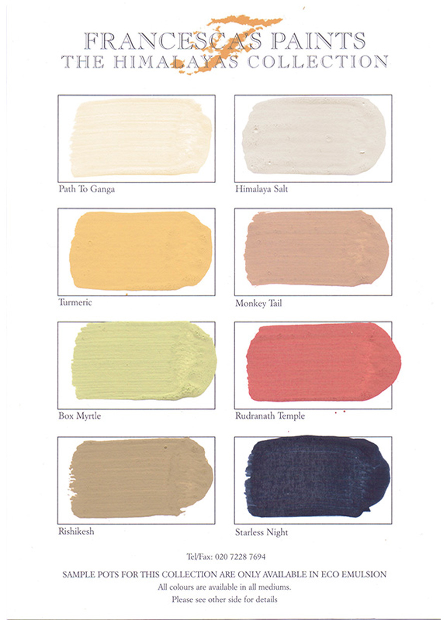 C21 Himalaya's collection Colour Chart