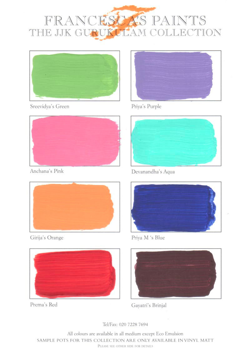 C22 JJK Gurukulam collection Colour Chart