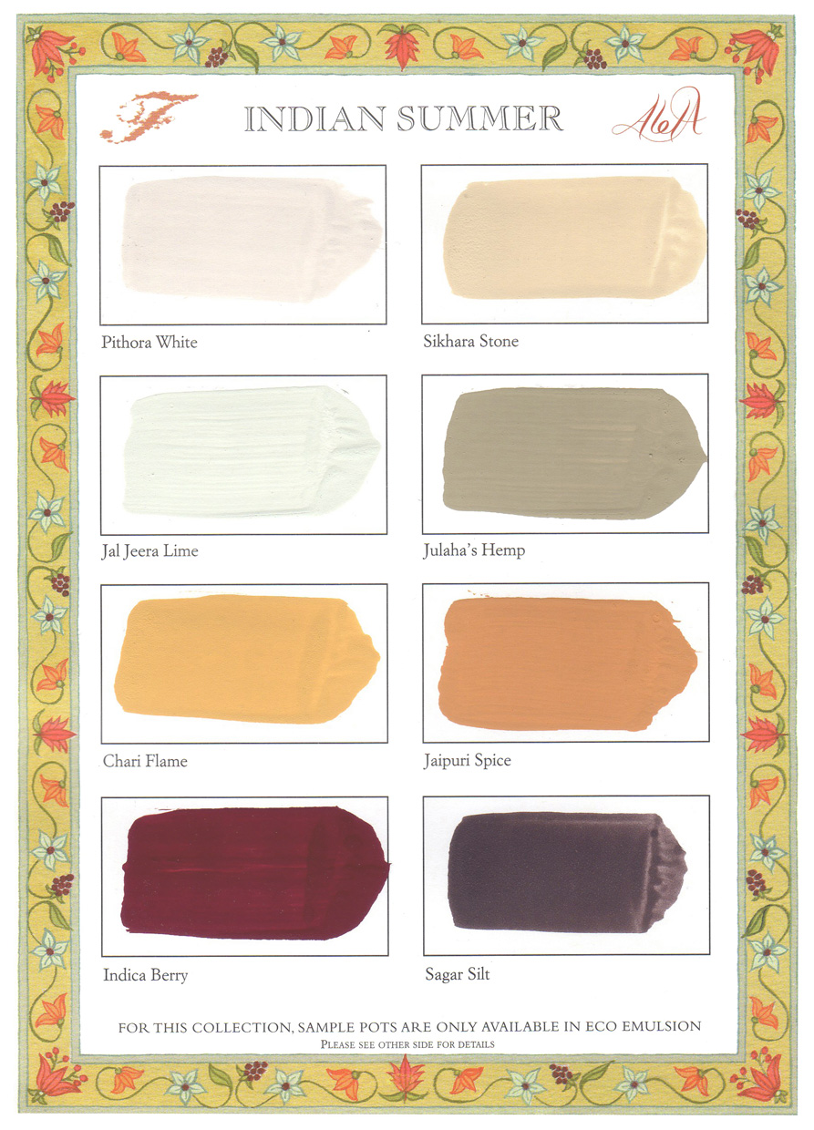 C14 Indian Summer collection Colour Chart