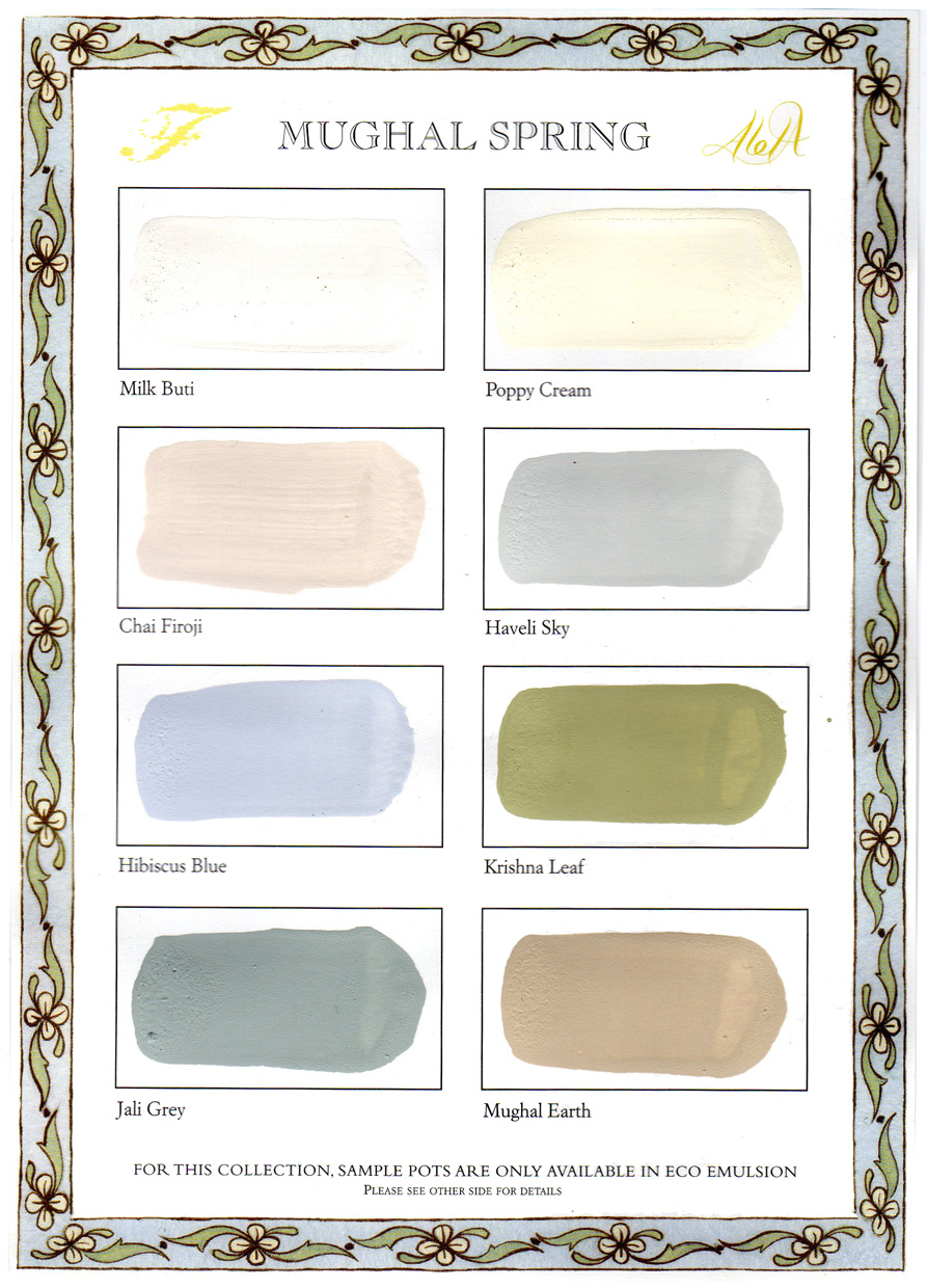 C13 Mughal Spring collection Colour Chart